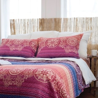Slumber Shop Sunset Raspberry Vintage Collection Quilt Set