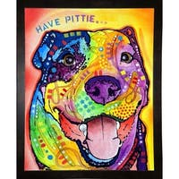 """Have Pittie Framed Print 10""""x8"""" by Dean Russo"""
