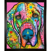 "Bloodhound Framed Print 39.5""x31"" by Dean Russo- Exclusive"