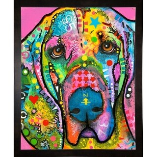 """Bloodhound Framed Print 39.5""""x31"""" by Dean Russo- Exclusive"""