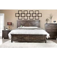 The Gray Barn Epona Rustic Farmhouse Dark Walnut Bed