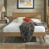 Sylvia Queen Size Mid-Century Wood Panel Bed by iNSPIRE Q Modern