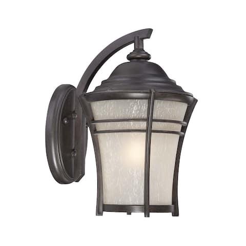 Vero 1-light Black Coral Outdoor Wall Lantern