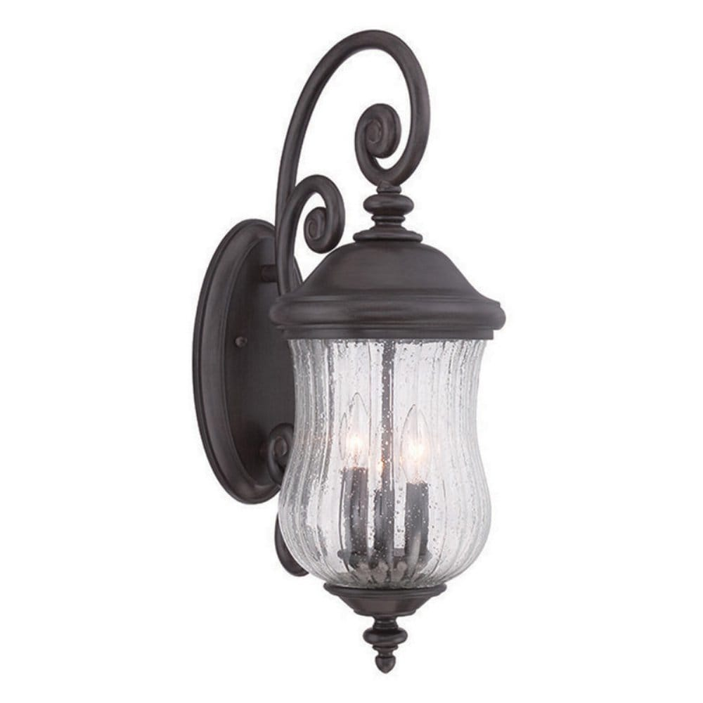 Bellagio 3 Light Black C Outdoor Wall Lantern