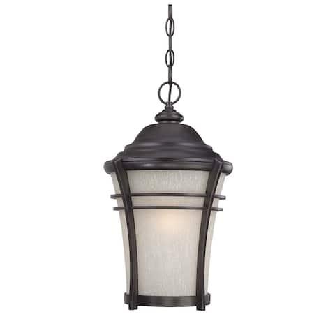 Vero 1-light Black Coral Outdoor Hanging Lantern