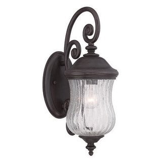 Acclaim Lighting Bellagio Collection Wall Lantern 1-Light Outdoor Black Coral Light Fixture