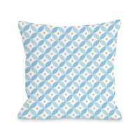 Matzo Pattern - Blue  Throw 16 or 18 Inch Throw Pillow by OBC