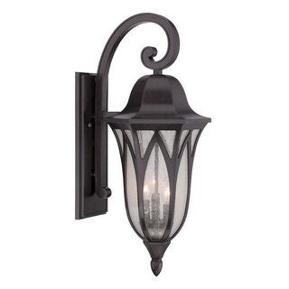 Acclaim Lighting Milano Collection Oil-rubbed Bronze MarbleX/Glass 3-light Outdoor Wall Lantern