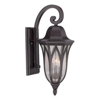 Acclaim Lighting Milano Collection Wall Lantern 3-Light Outdoor Oil Rubbed Bronze Light Fixture