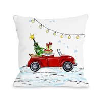 VW Bug - Multi  Throw 16 or 18 Inch Throw Pillow by Timree Gold