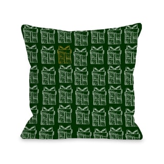One Special Present - Multi  Throw 16 or 18 Inch Throw Pillow by OBC