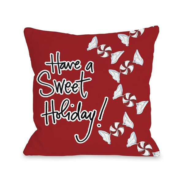 Sweet Holiday - Red White Black Throw 16 or 18 Inch Throw Pillow by Timree. Opens flyout.
