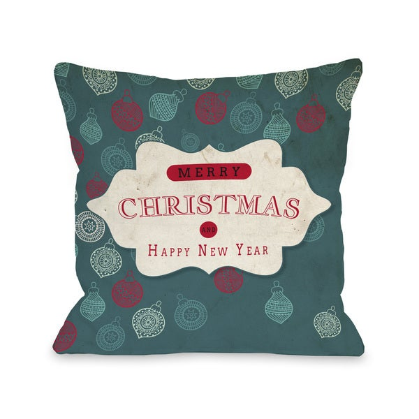 Shop Assorted Ornaments - Teal Tan Throw 16 or 18 Inch Throw Pillow ... 1ed8facf390e