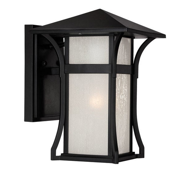 Accalim Lighting Tahiti Collection Wall-Mount 1-Light Outdoor Matte Black Light Fixture