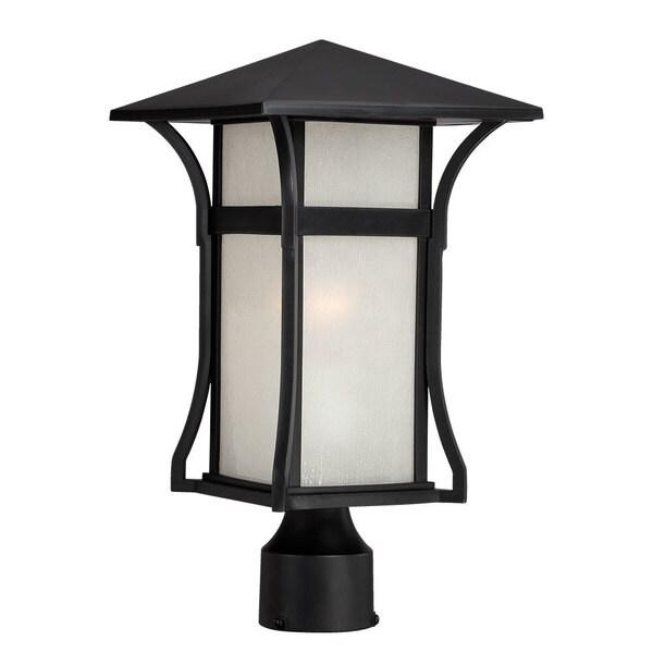 Acclaim Lighting Somerset 1 Light Matte Black Outdoor Post: Shop Acclaim Lighting Tahiti Collection Post Lantern 1