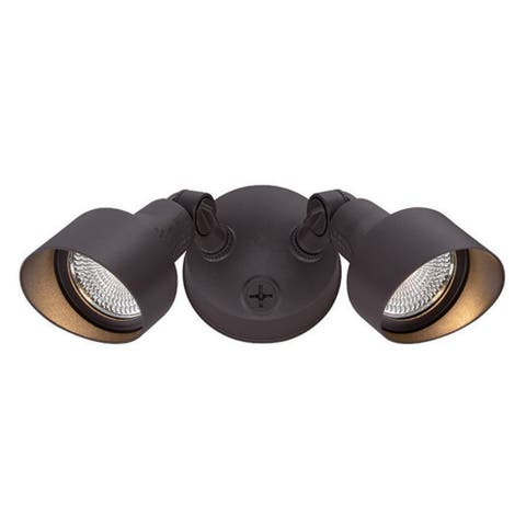 Floodlights Collection 2-Light Outdoor Architectural Bronze LED Light Fixture