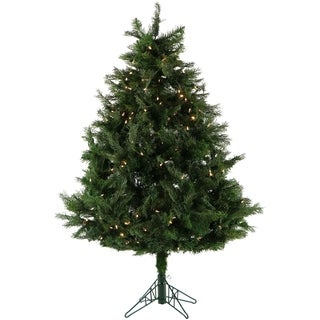 Fraser Hill Farm 5-Ft. Northern Cedar Teardrop Christmas Tree with Clear Smart String Lighting and EZ Connect