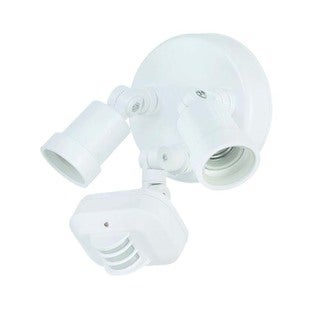 Acclaim Lighting Motion Activated Floodlights Collection 2-Light Outdoor White Light Fixture