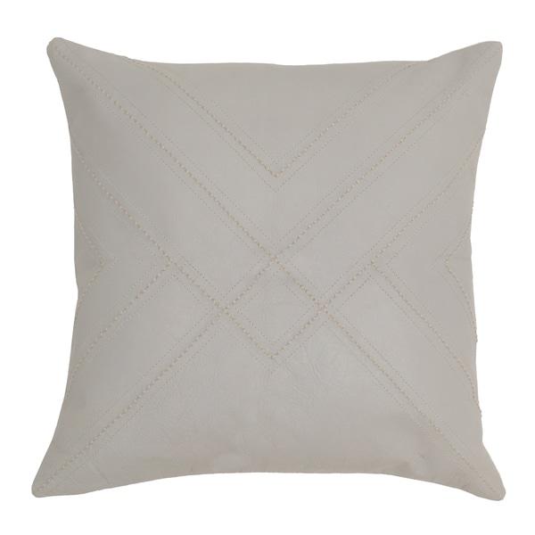 Kosas Home Garro Leather 18-inch Throw Pillow