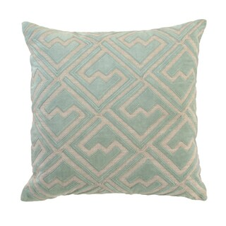 Ragno Cotton 18-inch Square Feather Filled Throw Pillow