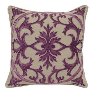 Allison Linen 22-inch Square Feather Filled Throw Pillow