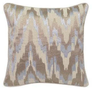 Alina Metallic Embroidered 18-inch Square Feather Filled Throw Pillow