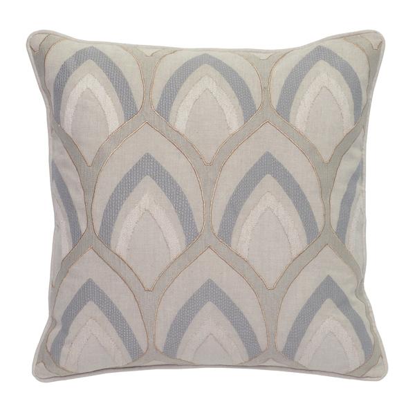 Kosas Home Hollis Embroidered 18-inch Throw Pillow