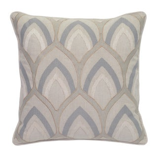 Hollis Metallic Embroidered 18-inch Square Feather Filled Throw Pillow
