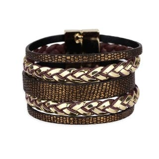Handmade Saachi Metallic Braid Bracelet (China)|https://ak1.ostkcdn.com/images/products/18007854/P24178160.jpg?impolicy=medium