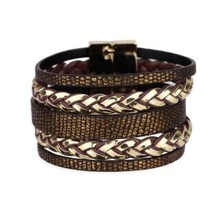 Handmade Saachi Metallic Braid Bracelet (China)