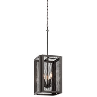 Aztec Lighting Transitional 3-light Bronze Finish Steel Pendant