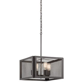 Aztec Lighting Transitional Bronze-finish Steel 4-light Pendant