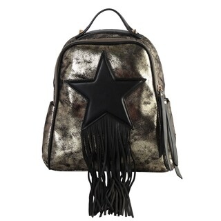 Diophy Metal Color Front Shooting Star Chic Backpack