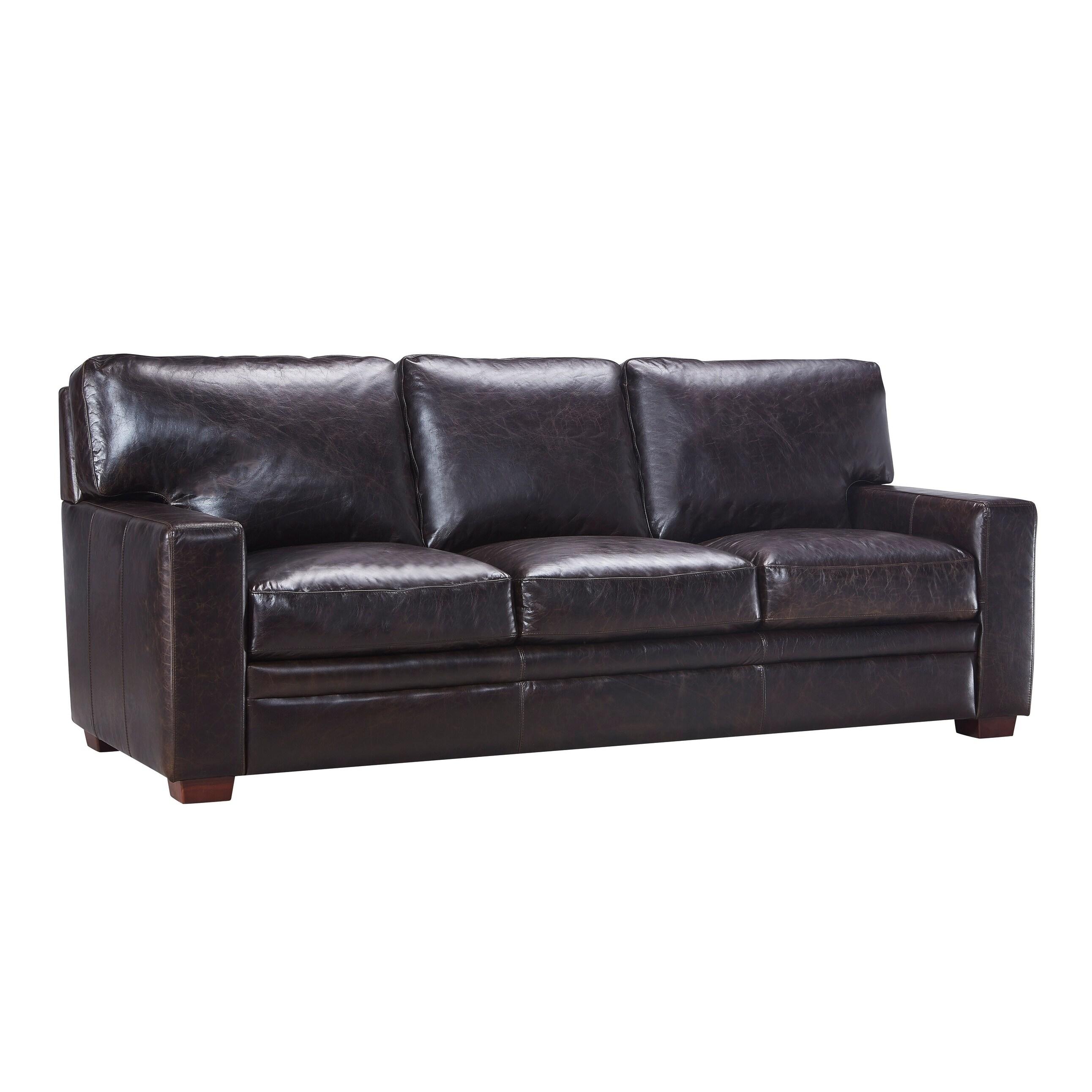Top Grain Italian Leather Sofa