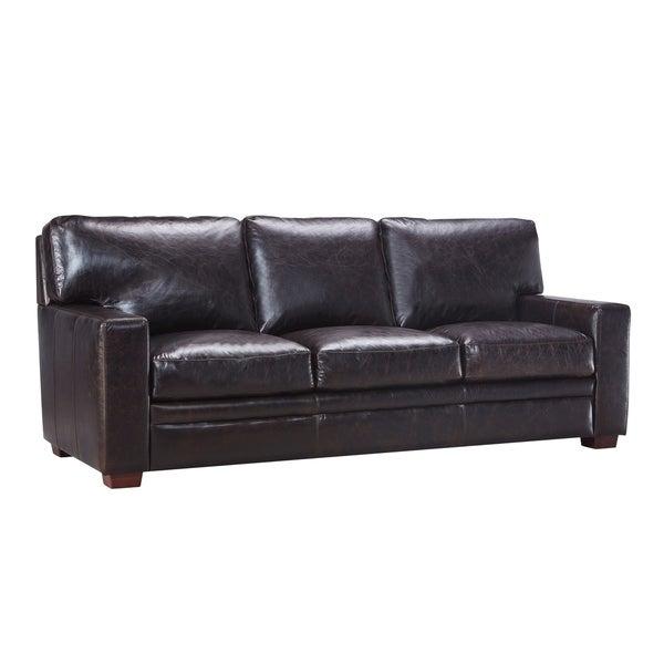 Shop Ashton 100 Top Grain Italian Leather Sofa Free