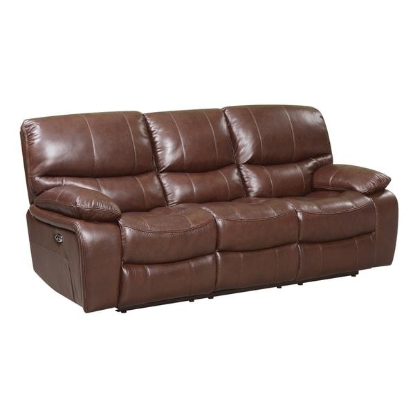 Mason Power Reclining Top Grain Italian Leather Sofa