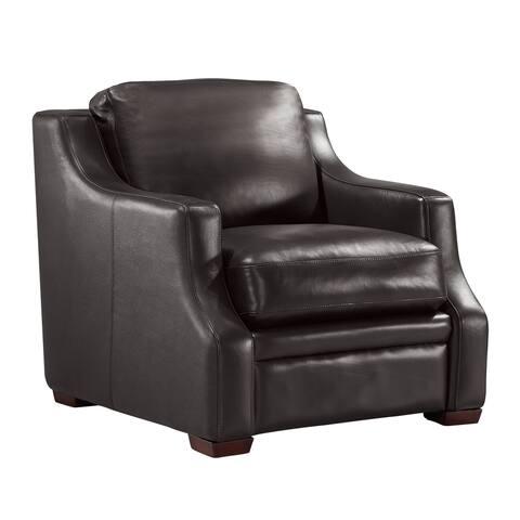 Jeremy Top Grain Italian Leather Club Chair
