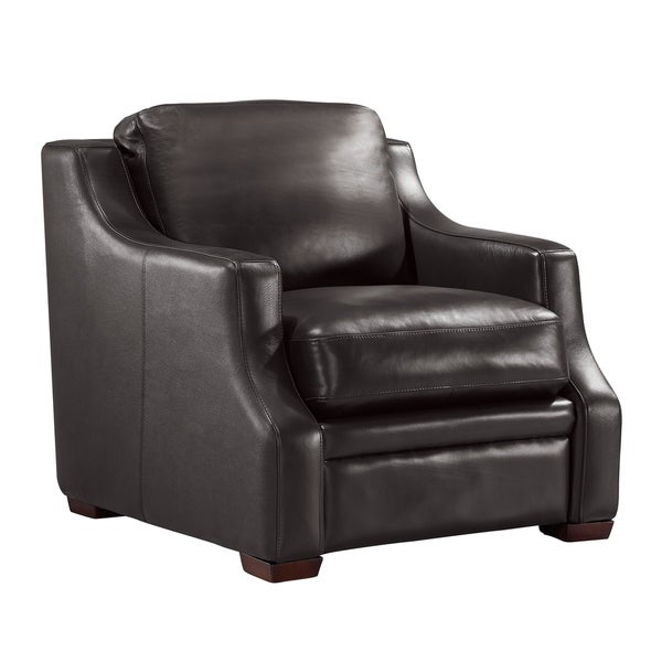 Jeremy Top Grain Italian Leather Club Chair