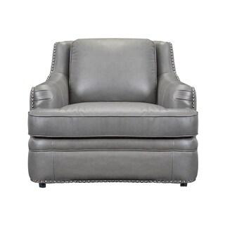 Calvin Top Grain Italian Leather Club Chair