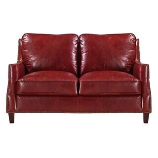 Braxton 100% Top Grain Italian Leather Loveseat