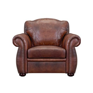 Casey Top Grain Italian Leather Club Chair