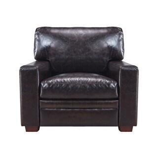 Ashton 100% Top Grain Italian Leather Club Chair