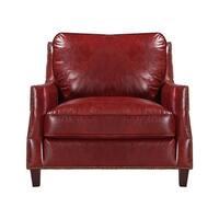 Braxton 100% Top Grain Italian Leather Club Chair