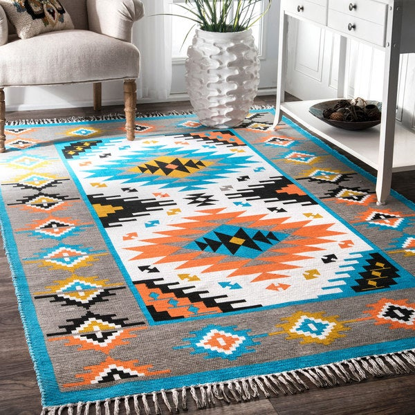 Nuloom Southwestern Grey Handmade Tribal Abstract Bold