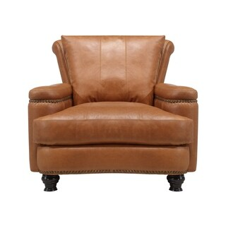 Nathan Top Grain Italian Leather Club Chair
