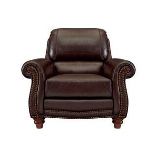 Carter Top Grain Italian Leather Club Chair