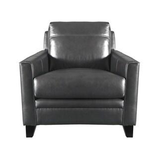 Genial Warner Top Grain Italian Leather Club Chair