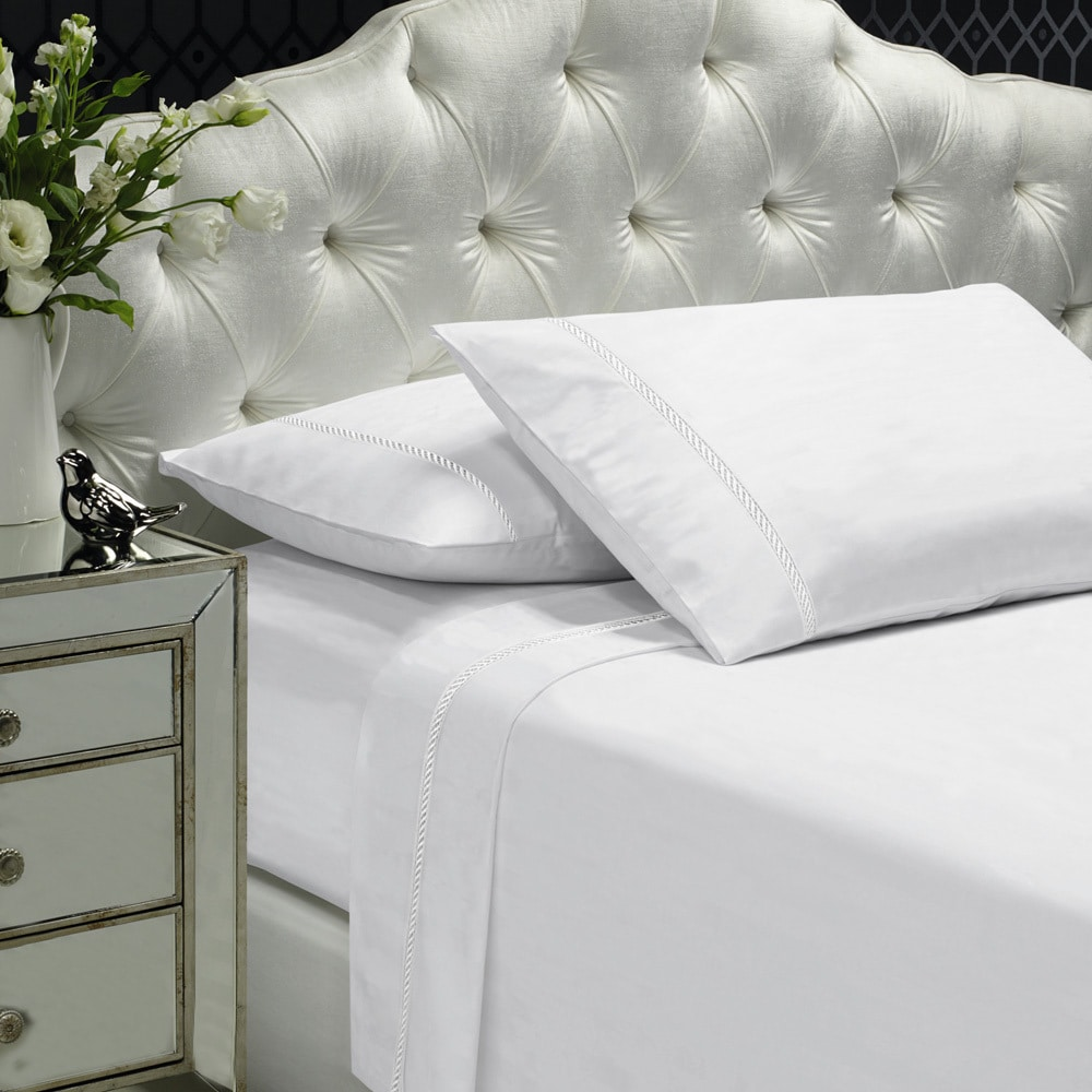 Embilleshed 400 Thread Count King Size Sheet Set in White...