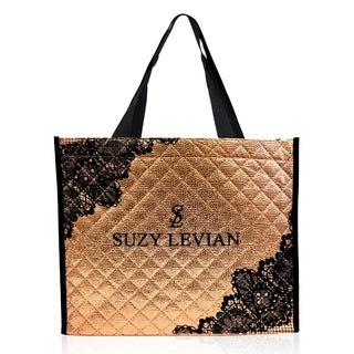 Suzy Levian Quilted Reusable Tote Carryall Bag