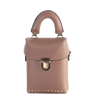 Diophy Small Top Handle Bucket Bag with Removable Strap